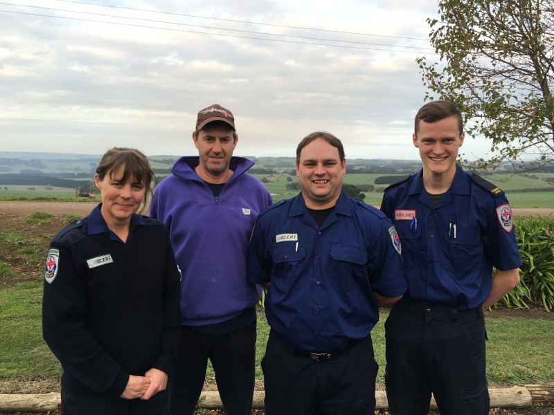 Left to Right: Julie Vogels (CERT), Leigh Doak, Bradley Hain (CERT), Rhys Kensit (ACO)